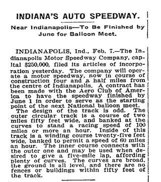 Speedway opening